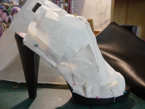 Calico-pinned-on-shoe